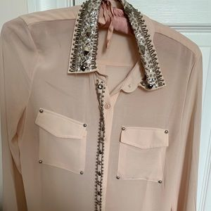 Nasty gal embellished button down